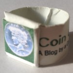 Origami Ring made using the the template colors of the Coin Collectors Blog