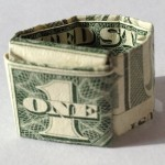 Origami Ring made using a $1 Federal Reserve Note