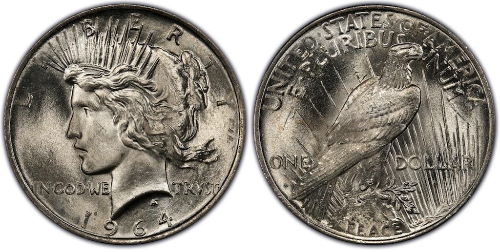 Pcgs declares 1964 d peace 1 coin collectors blog - Coin de finition plinthe ...
