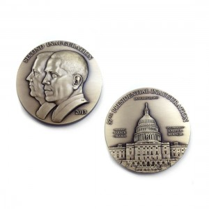 Barack Obama Second Term Bronze Inaugural Medal