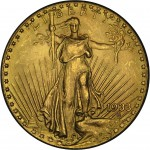 1933 Saint Gaudens Double Eagle (obverse).Last sold for $7,590,020 in 2002.