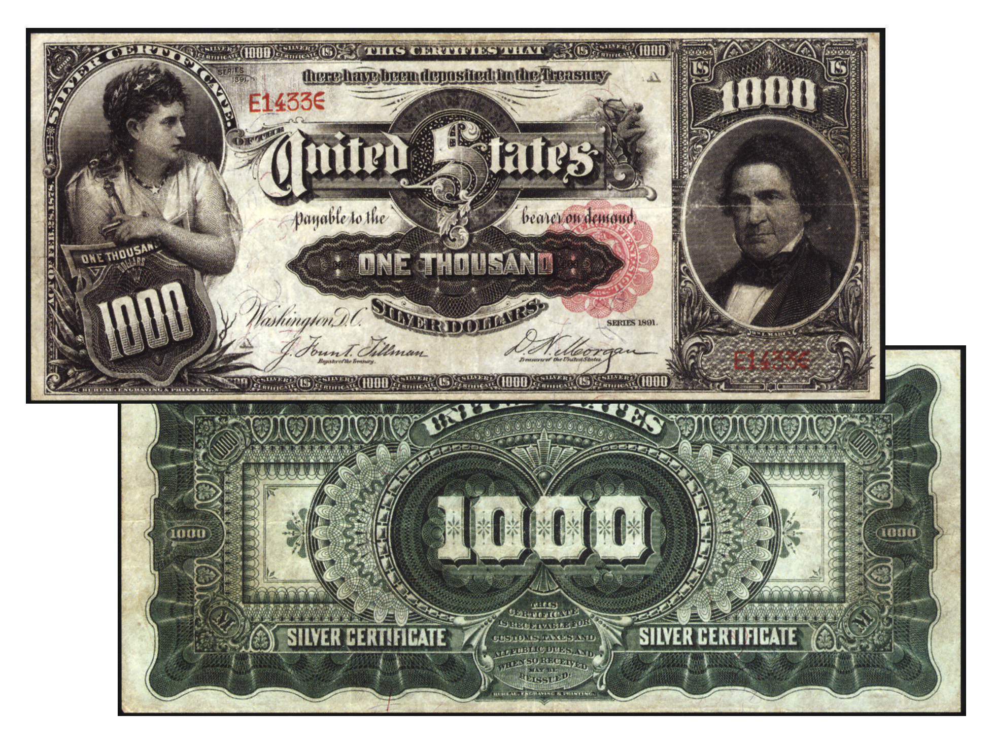 1891 1000 Silver Certificate Coin Collectors Blog