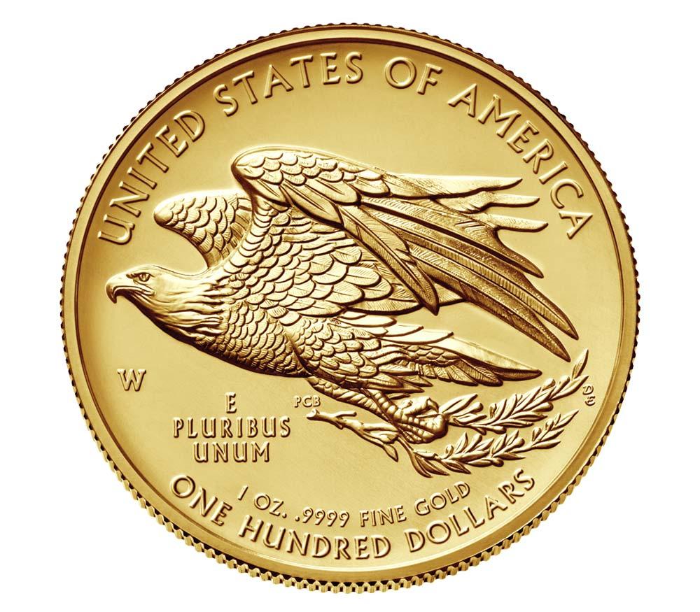 American Liberty 2015 High Relief Gold Coin Reverse Coin