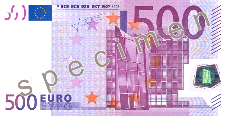 Euro 7 3 Series 500 Banknote Coin Collectors Blog