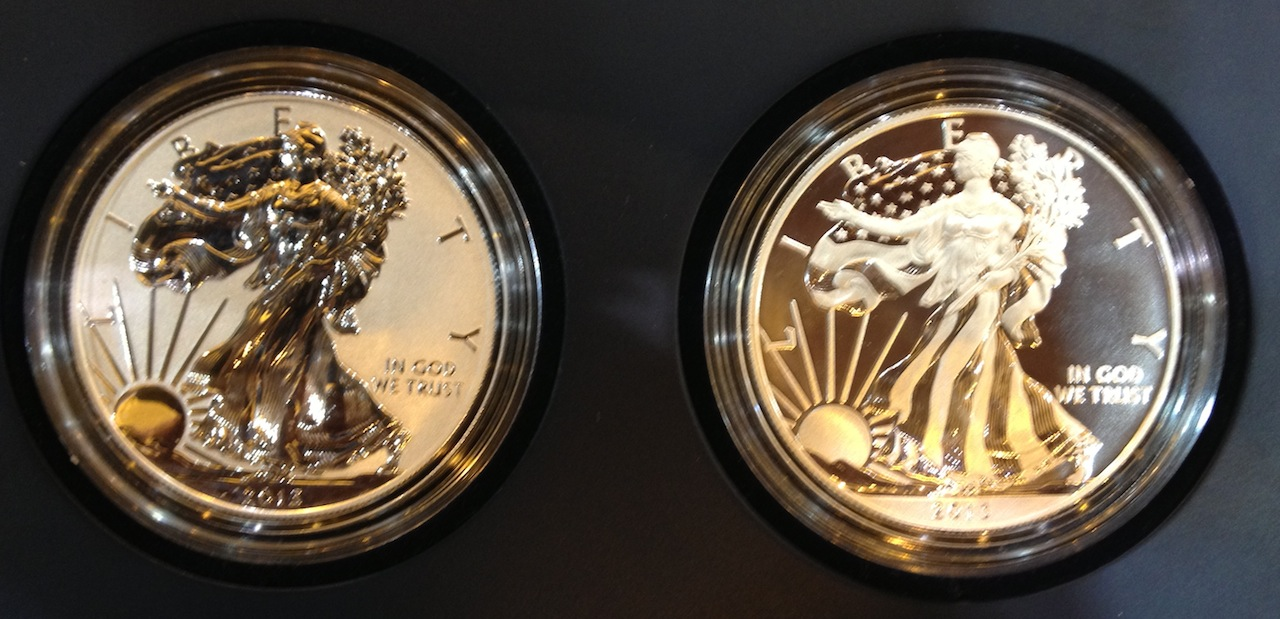 2013 American Eagle West Point Two Coin Silver Set Coin
